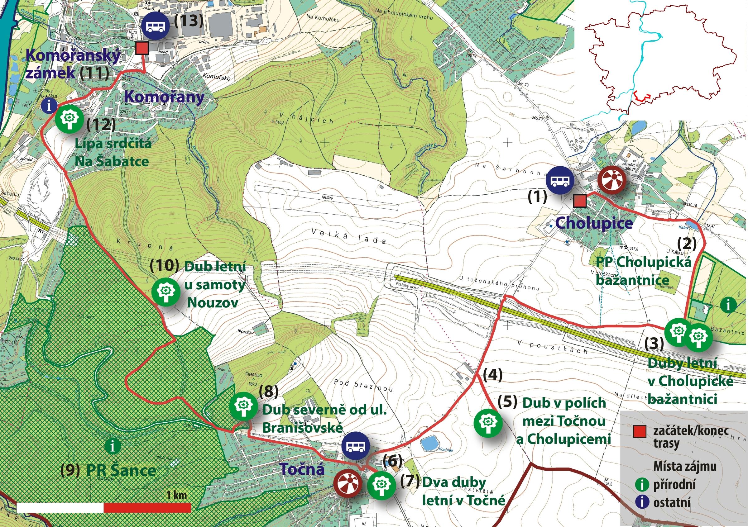 Trasa C 12 Za Pamatnymi Stromy Cholupic Tocne A Komoran Portal