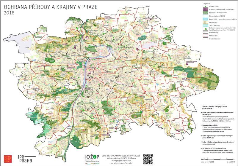 Mapa Ochrana Prirody A Krajiny V Praze Portal Zivotniho Prostredi