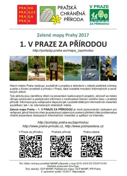 Mapa V Praze Za Priirodou Portal Zivotniho Prostredi Hlavniho