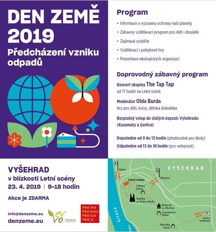 Den Země v hl. m. Praze 2019, pozvánka, ilustr. obr.