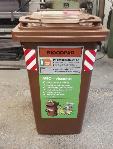 Výsledek obrázku pro hneda popelnice na bioodpad praha